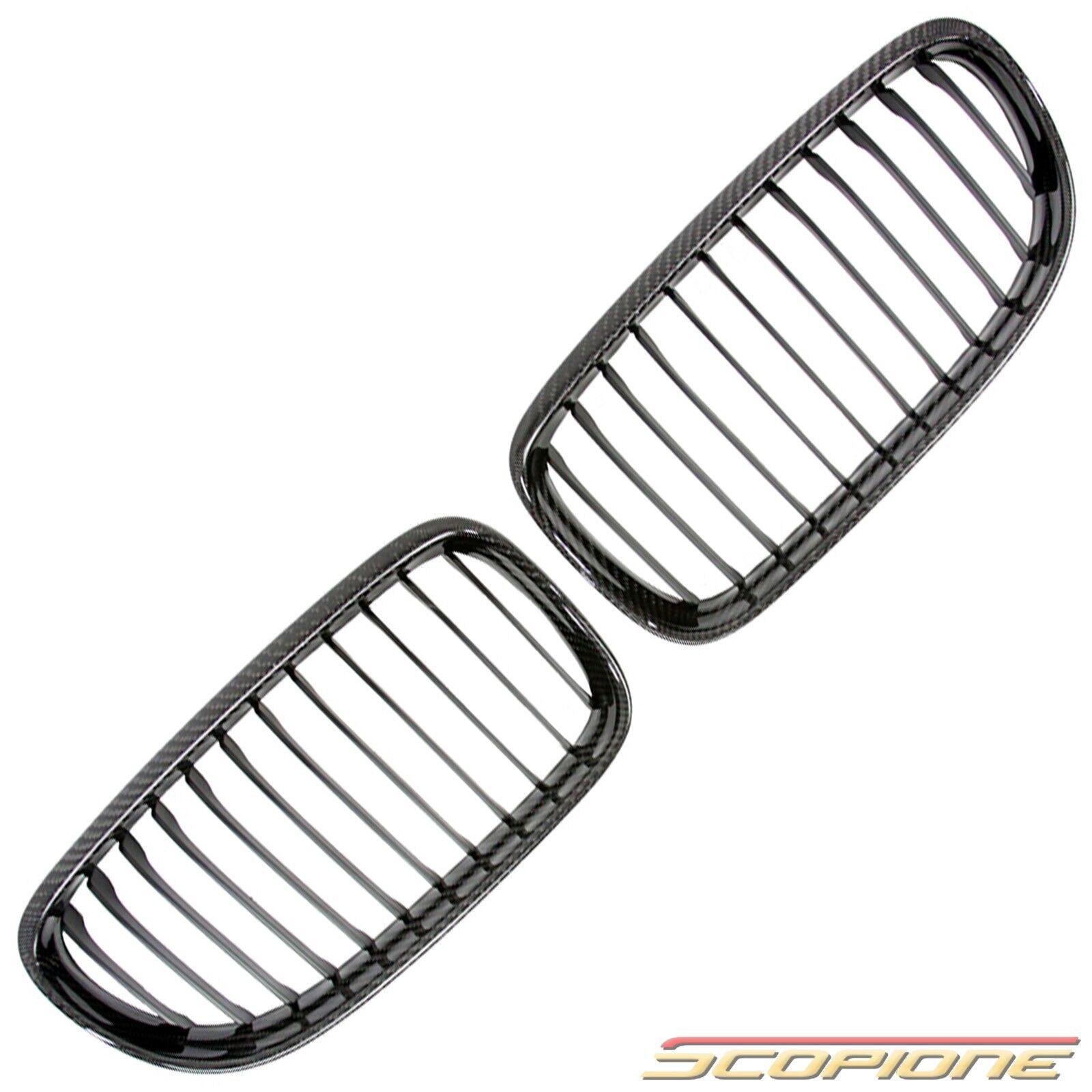 Scopione REAL Carbon Fiber Kidney Grille Set for BMW 09-11
