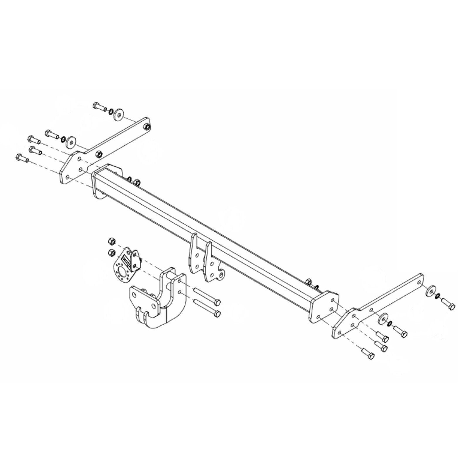 hight resolution of details about towbar for skoda octavia estate 2013 onwards flange tow bar