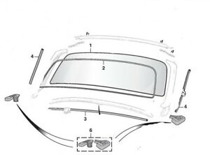 MGB Windshield rubber seal pkg for 1962 to 1980 MGB, MGC
