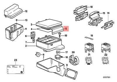 Genuine BMW E32 E34 Sedan Wagon Fuse Box Lock OEM