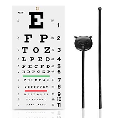 Eye Chart Snellen Wall Eye Hand Pointer Occluder Eye Exams