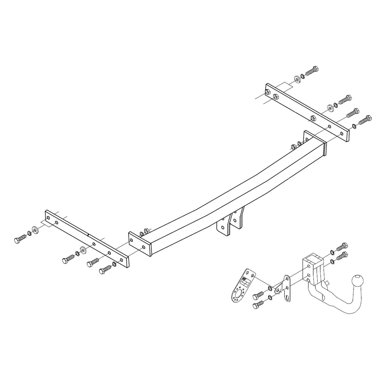 details about towbar for skoda octavia estate 2005 2013 detachable swan neck tow bar [ 1600 x 1600 Pixel ]