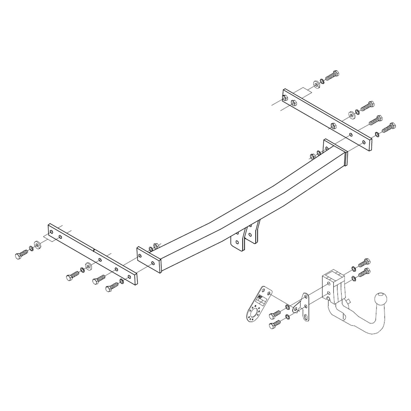 hight resolution of details about towbar for skoda octavia estate 2005 2013 detachable swan neck tow bar