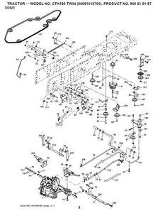 Husqvarna Transmission Drive Belt Kev CTH155 CTH163T