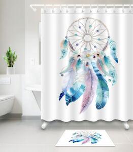 details about waterproof fabric dreamcatcher native american shower curtain hooks bathroom mat