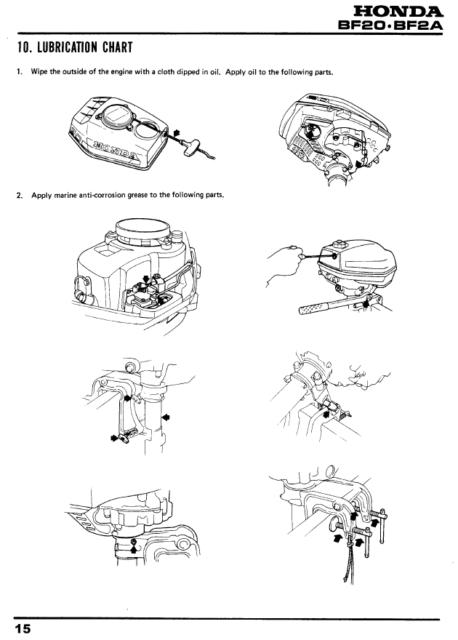 Honda BF2A BF20 Outboard Motor Service Manual ( 2 HP