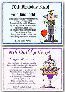 40th 50th 60th 70th 80th 90th Funny Personalised Birthday