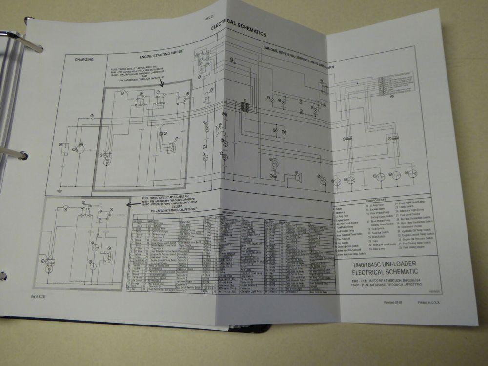 medium resolution of 1845c wiring diagram wiring diagram centrecase 1845c uni loader skid steer service repair manual for salecase
