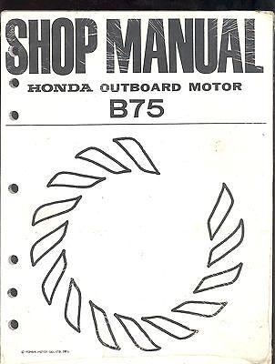 1976 HONDA MARINE OUTBOARD MOTOR B75 SERVICE REPAIR SHOP