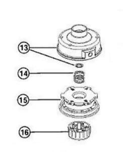 COMPLETE TRIMMER HEAD MTD BL100 Y28 Y700 YM300 YM400 753