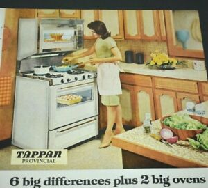 details about tappan provincial modern gas cooking stove range oven mcm kitchen 1967 print ad