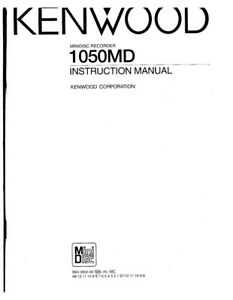 Kenwood 1050-MD Minidisc Recorder Owners Instruction