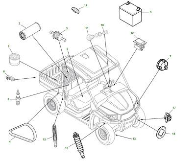 Genuine John Deere XUV560 Gator Utility Vehicle PC12782