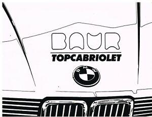 BMW E30 323i BAUR TC ORIGINAL 1983 OWNERS INSTRUCTION