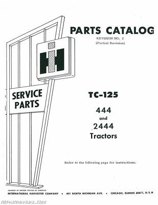 International Harvester 444 2444 Gas and Diesel Parts