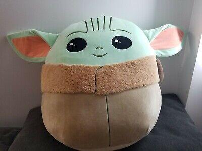 squishmallows the baby yoda 20 star wars huggable soft plush pillow limited us ebay