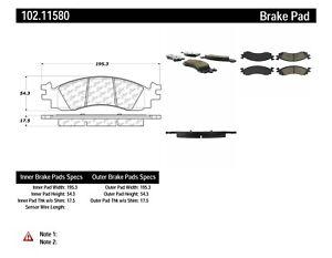 Disc Brake Pad Set-C-TEK Metallic Brake Pads Front Centric
