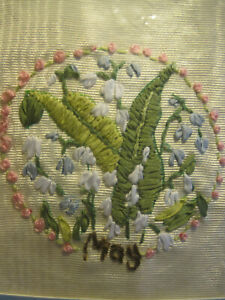 Lily Of The Valley Embroidery : valley, embroidery, BUCILLA, RIBBON, EMBROIDERY, KIT~FLOWER, MONTH, VALLEY~MAY-FINISHED