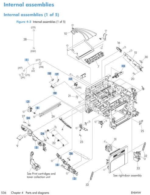 HP Laserjet Enterprise 500 (M551) Service Manual (Contains