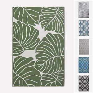 details about indoor outdoor waterproof plastic large rug garden patio leaf geometric pattern