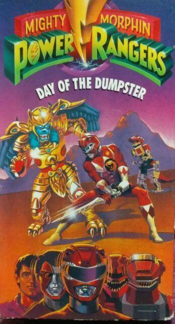 Power Rangers Day : power, rangers, Mighty, Morphin, Power, Rangers, Dumpster, (VHS,, 1993), Online