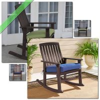 Porch Rocking Chair with Cushions Outdoor Patio Chairs ...