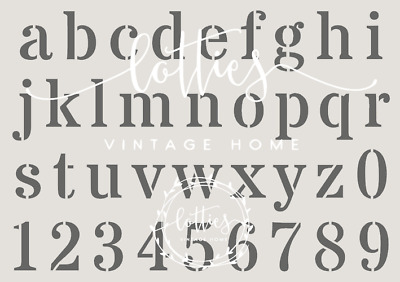 A3 Alphabet Stencil LOWERCASE Vintage Font DIY French