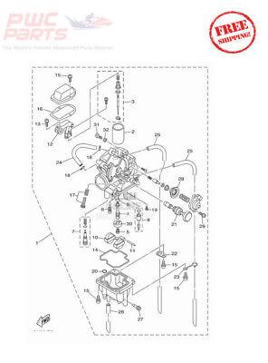 YAMAHA OEM Carburetor Assembly 2011-2017 TT-R230 TTR230