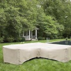 Sofa Waterproof Cover Contempory Sectional Outdoor Furniture L Shaped Image Is Loading