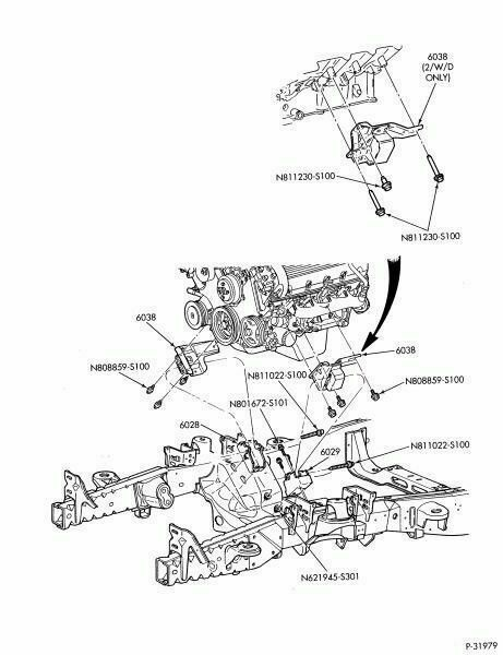 97-04 Ford F-150 Lincoln 4.6L 5.6L 2835 Right Engine Motor