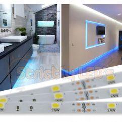 Led Tape Kitchen Cabinet Design Online Blue Strip Lights 5050 Strips Under Cabinets Image Is Loading