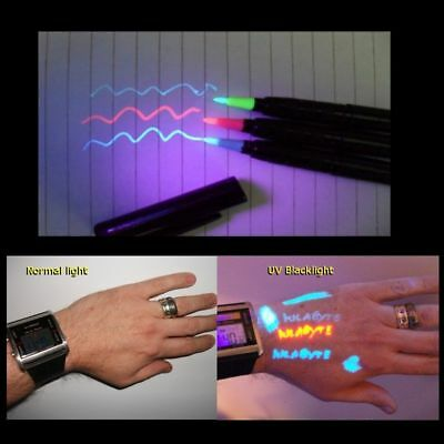 Temporary Tattoo Uv Invisible Body Ink Pro Pen Red 7426757442901 Ebay