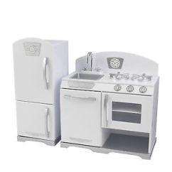 Retro Kids Kitchen Gel Mats Kidkraft 2 Piece Wooden Cooking Pretend Play Set Image Is Loading