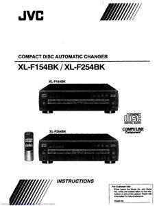 JVC XL-F154BK XL-F254BK CD Changer Owners Instruction