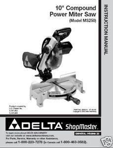 Delta 10 Miter Saw Parts