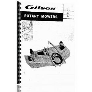 Operator and Tractor Parts Manual for Gilson GIL-OP-ATTCH