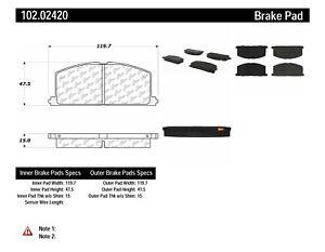 C-TEK Metallic Brake Pads fits 1983-1999 Toyota Tercel