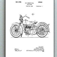 Harley Softail Frame Diagram 1998 Jeep Grand Cherokee Laredo Radio Wiring Framed 8 5 X 11 Davidson Motorcycle Original Patent Image Is Loading