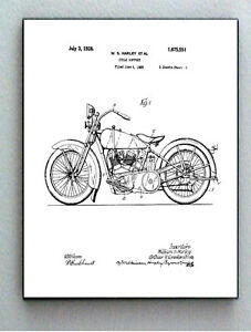 harley softail frame diagram automotive air conditioning wiring framed 8 5 x 11 davidson motorcycle original patent image is loading