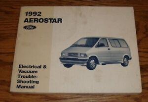 1992 Ford Aerostar Wiring Diagram Electrical & Vacuum