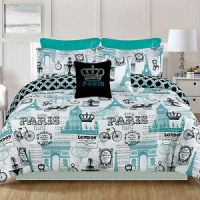 Paris Bedding King or Queen 7 Piece Comforter Bed Set