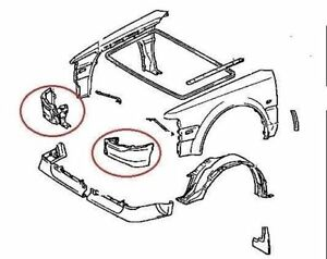 Front Valance Panel from Wing Under Bumper Toyota MR2 MK1
