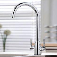 Kitchen Tap Faucets White Vellamo Hero Sink Mixer Swivel Spout Modern Chrome Basin Image Is Loading