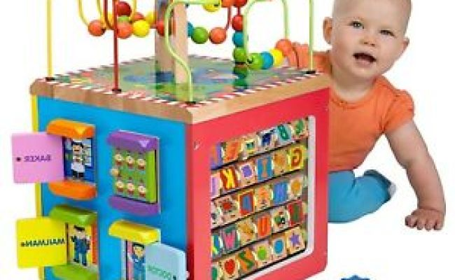 Educational Toys For 1 Years Old Activity Cube Wooden