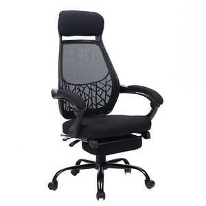 office chair with ottoman hay about a aac22 stoel high mesh back reclining computer desk task w pull out image is loading