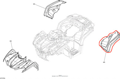 NEW OEM CAN-AM FACTORY OUTLANDER MAX 450 570 REAR LEFT