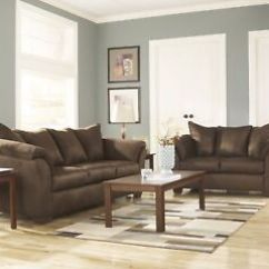Microfiber Living Room Furniture Sets Country Wall Decor For Luna Sofa Loveseat Reclining Chair Casual 3 Piece Details About Set