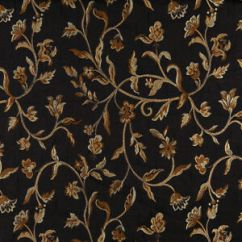 Brocade Sofa Fabric Cinema London Hampstead A0011c Midnight Gold Ivory Floral Upholstery By The Image Is Loading