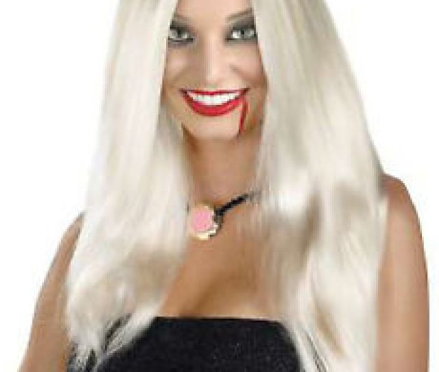 Ladies Womens Adult Wig Old Lady Glamourama Cm Vampiress Disco
