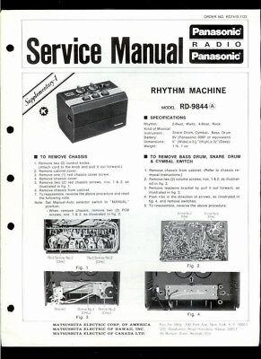 Panasonic RD-9844 (A) Rhythm Machine Schematic PC Boards